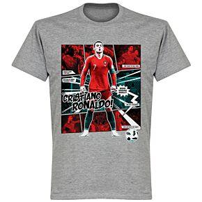 Ronaldo Comic T-Shirt - Grey