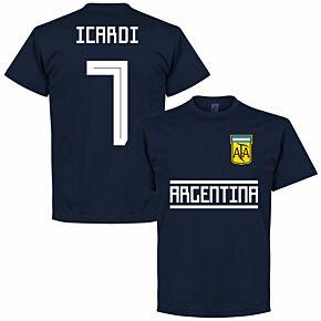 Argentina Icardi 7 Team Tee - Navy