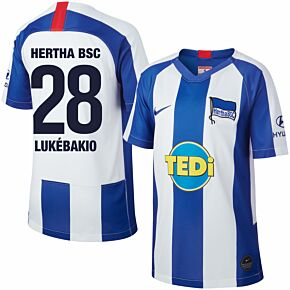 19-20 Hertha Berlin KIDS Home Shirt +Lukebakio 28 (Fan Style