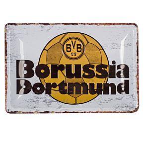 Borussia Dortmund Retro Metal Sign (20 x 30cm Approx)