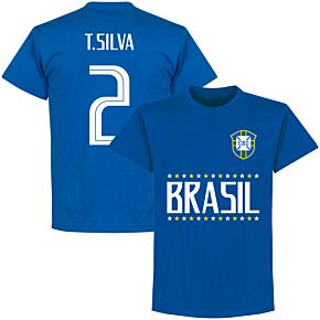 Brazil T. Silva 2 Team T-Shirt - Royal