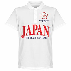 Japan Rugby Polo Shirt - White