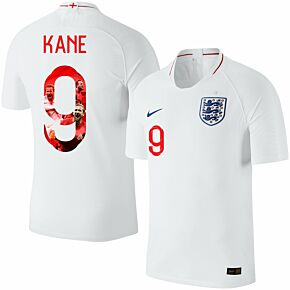 England Home Kane 9 Jersey 2018 / 2019 (Gallery Style Printing)