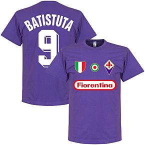 Fiorentina Batistuta 9 Team Tee - Purple