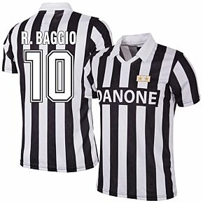 92-93 Juventus Home RetroShirt + R.Baggio 10 (Retro FanStyle)