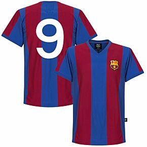 76-77 Barcelona Home Retro Shirt + No. 9