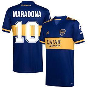 20-21 Boca Juniors Home Shirt+Maradona 10 (Retro Fan Style)