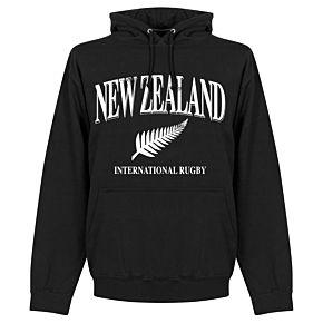 New Zealand Rugby Hoodie - Black