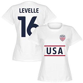 USA Lavelle 16 Team Womens T-Shirt - White