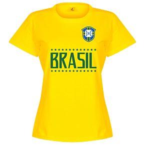 Brazil Team Womens Tee - Yellow