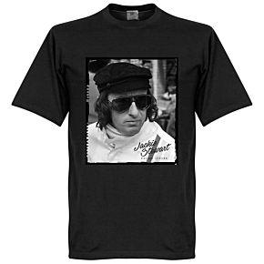 Jackie Stewart Portrait Tee - Black