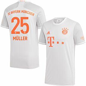 20-21 Bayern Munich Away Shirt + Müller 25 (Official Printing)