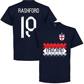 England Rashford 19 Team Tee - Navy