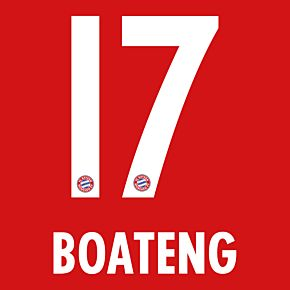 Boateng 17 - Bayern Munich Home KIDS Official Name & Number 2016 / 2017