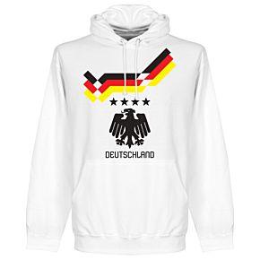 1990 Germany 4 Star Retro Hoodie - White