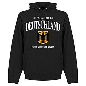 Germany Rugby Hoodie - Black