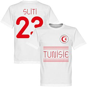 Tunisia Sliti 23 Team Tee - White