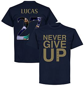 Never Give Up Spurs Lucas 27 Gallery Tee - Navy/Gold