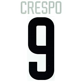 Crespo 9 02-04 Inter Milan Away Official Name and Number