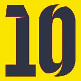 10 (10cm) - 12-13 Barcelona Away/3rd Official Shorts Number
