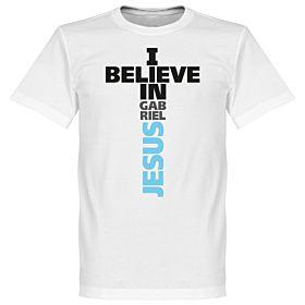 I Believe in Gabriel Jesus Tee - White