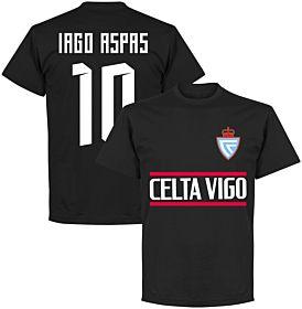 Celta Vigo Iago Aspas 10 Team Tee - Black