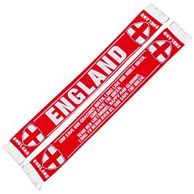 England St Georges Cross Knitted Scarf - Red