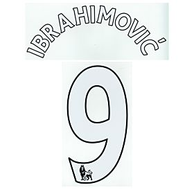 Ibrahimovic 9 (Premiership) - Official KIDS SIZE Manchester United Home Name & Number