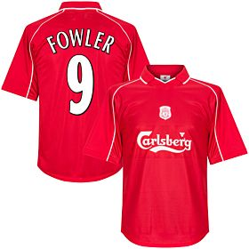 00-01 Liverpool Home Retro Shirt + Fowler 9 (Fan Style Printing)