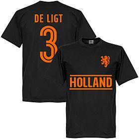 Holland De Ligt Team T-Shirt - Black