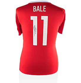 Gareth Bale Back Signed Wales Home Jersey 2016 / 2017 (Official Printing)
