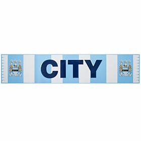 Manchester City Bar Scarf Metal Sign (40 x 18cm)