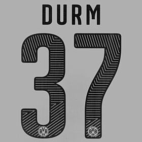 Durm 37 - Borussia Dortmuand Home KIDS Official Name & Number 2014 / 2015