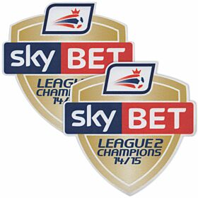 Sky Bet Football League 2 Champions Patch Pair (2014 / 2015 Season Winners)