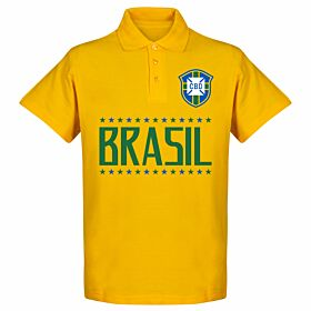Brazil Team Polo Shirt - Yellow