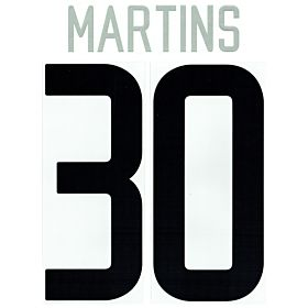 Martins 30 02-04 Inter Milan Away Official Name and Number