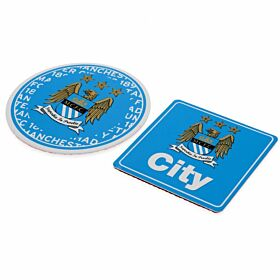 Manchester City Multi Surface Signs (Pack of 2 - 9x9cm & 7x7cm)