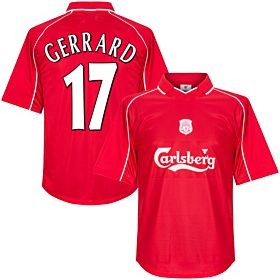 00-01 Liverpool Home Retro Jersey + Gerrard 17 (Fan Style Printing)