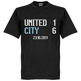 United 1 : City 6 Scoreboard Tee