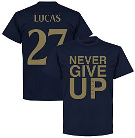 Never Give Up Spurs Lucas 27 Tee - Navy/Gold