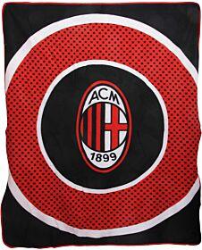 AC Milan 'Bullseye' Fleece Blanket (125cm x 150cm)