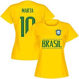 Brazil Team Womens Marta 10 Tee - Yellow