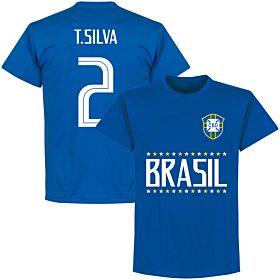 Brazil T. Silva 2 Team T-Shirt - Royal