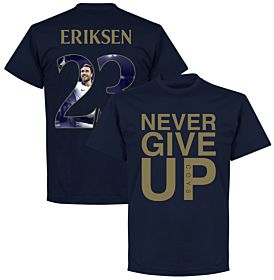 Never Give Up Spurs Eriksen 23 Gallery Tee - Navy/Gold