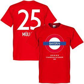 Bayern Underground Tee + Müller 25 - Red