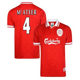 1996 Liverpool Home Retro Shirt + McAteer 4 (Fan Style Printing)