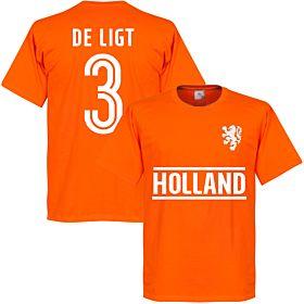 Holland De Ligt Team T-Shirt - Orange